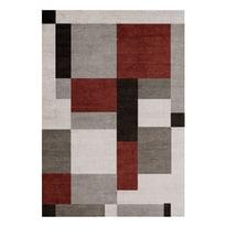 Tappeto Soave Soft grigio, rosso, nero 60 x 120 cm