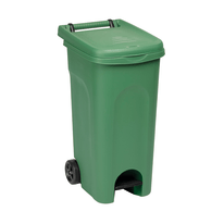 Bidone Urban Eco System verde satinato 80 L