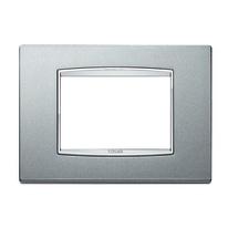 Placca 3 moduli Vimar Eikon argento matt