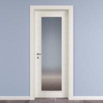 Porta da interno battente Star Vetro Bianco Matrix 70 x H 210 cm reversibile