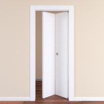 Porta da interno pieghevole Plaza frassino bianco 80 x H 210 cm dx