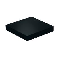 Mensola Spaceo nero L 23 x P 23, sp 3,8 cm
