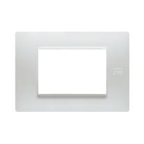 Placca 3 moduli Simon Urmet Nea Flexa bianco
