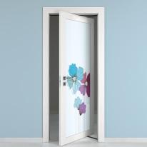 Porta da interno rototraslante Eden larice bianco 70 x H 210 cm dx