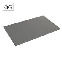 Ripiano in metallo grigio martellato 100 x 60 cm