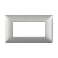 Placca 4 moduli BTicino Matix silver