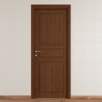 Porta da interno battente Beethoven brown chocolate 70 x H 210 cm reversibile