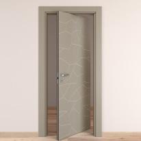 Porta da interno rototraslante The Thing grigio 80 x H 210 cm dx