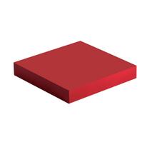 Mensola Spaceo rosso L 23,5 x P 23,5, sp 3,8 cm