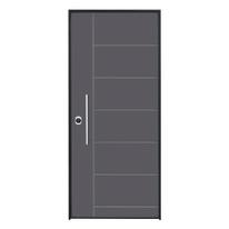 Porta blindata Termika grigio L 80 x H 210 cm dx