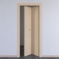 Porta da interno pieghevole Spring rovere chiaro 80 x H 210 cm dx