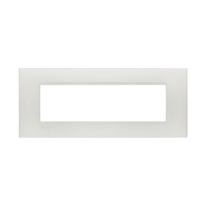 Placca 7 moduli BTicino Livinglight argento