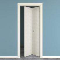 Porta da interno pieghevole Touch bianco matrix 80 x H 210 cm dx