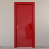 Porta da interno battente Massaua red rosso 60 x H 210 cm dx