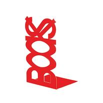 Fermalibri Books rosso L 12 x H 21 x P 11 cm