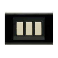 Placca 3 moduli FEB Laser nero