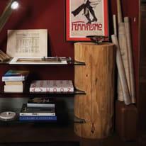Tronco con fresature legno Ø 30 - 40 x H 70 cm grezzo