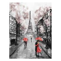 quadro su tela Paris paint red 60x80