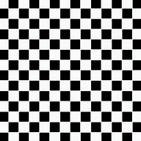 Mosaico Dama 32,7 x 32,7 cm bianco, nero