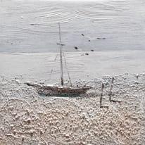 quadro dipinto a mano Barca2 30x30