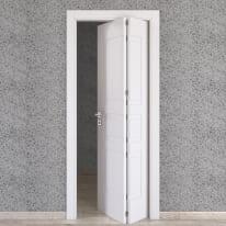 Porta da interno pieghevole asimmetrica Alioth bianco 70 x H 210 cm dx
