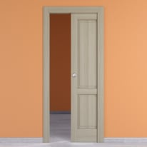 Porta da interno scorrevole Vermeer rovere sbiancato 60 x H 210 cm dx
