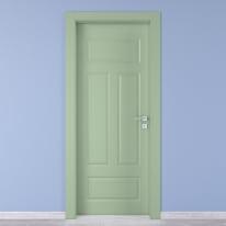 Porta da interno battente Coconut Groove verde 60 x H 210 cm sx