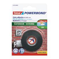 Nastro biadesivo Powerbond esterni Tesa 1,5 m x 19 mm