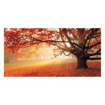 quadro su tela Red forest 80x180