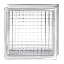 Vetromattone trasparente incrociato 19 x 19 x 8 cm