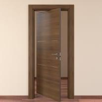 Porta da interno rototraslante Tussauds Cacao 80 x H 210 cm sx