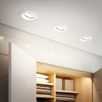 Kit 10 faretti ad incasso Clane bianco orientabile rotondo Ø 8 cm 10x40 W luce naturale