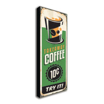 quadro su tela Takeaway coffee 60x20