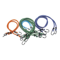 10 corde elastiche con ganci semplici in plastica
