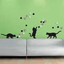 Sticker 3D Foam Fancy cats