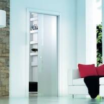 Porta da interno scorrevole Secret Neutro 83 x H 213 cm reversibile