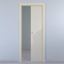 Porta da interno scorrevole Massaua ivory avorio 70 x H 210 cm reversibile