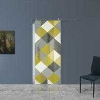Porta da interno scorrevole Carpet 5/binario Lux 88 x H 215 cm dx