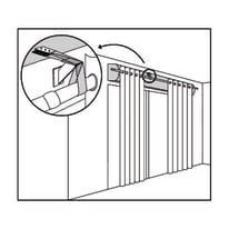 Supporto per bastone a pressione per tenda trasparente