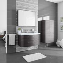 Mobile bagno Solitaire wengè L 97 cm