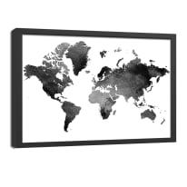 quadro su tela Mappa 65x85