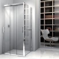 Porta doccia scorrevole Elyt 84-90, H 190 cm cristallo 6 mm trasparente/cromo