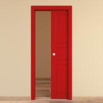 Porta da interno scorrevole New York rosso 70 x H 210 cm reversibile