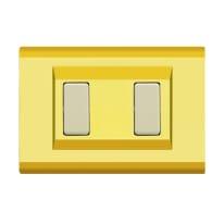 Placca 2 moduli FEB Laser oro
