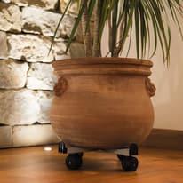 Sottovaso Carrello quadro per vasi regolabile in acciaio ø 33,5 cm grigio