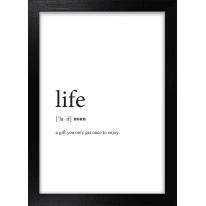 Stampa incorniciata Life 13 x 18 cm
