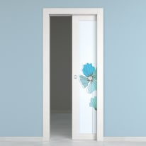 Porta da interno scorrevole Eden larice bianco 80 x H 210 cm dx