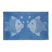 Tappeto bagno Pesci azzurro