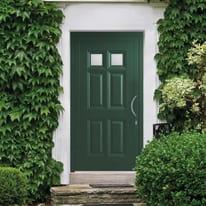 portoncino d'ingresso alluminio Classic4 verde L 90 x H 210 sx