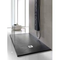Piatto doccia poliuretano Soft 180 x 80 cm nero